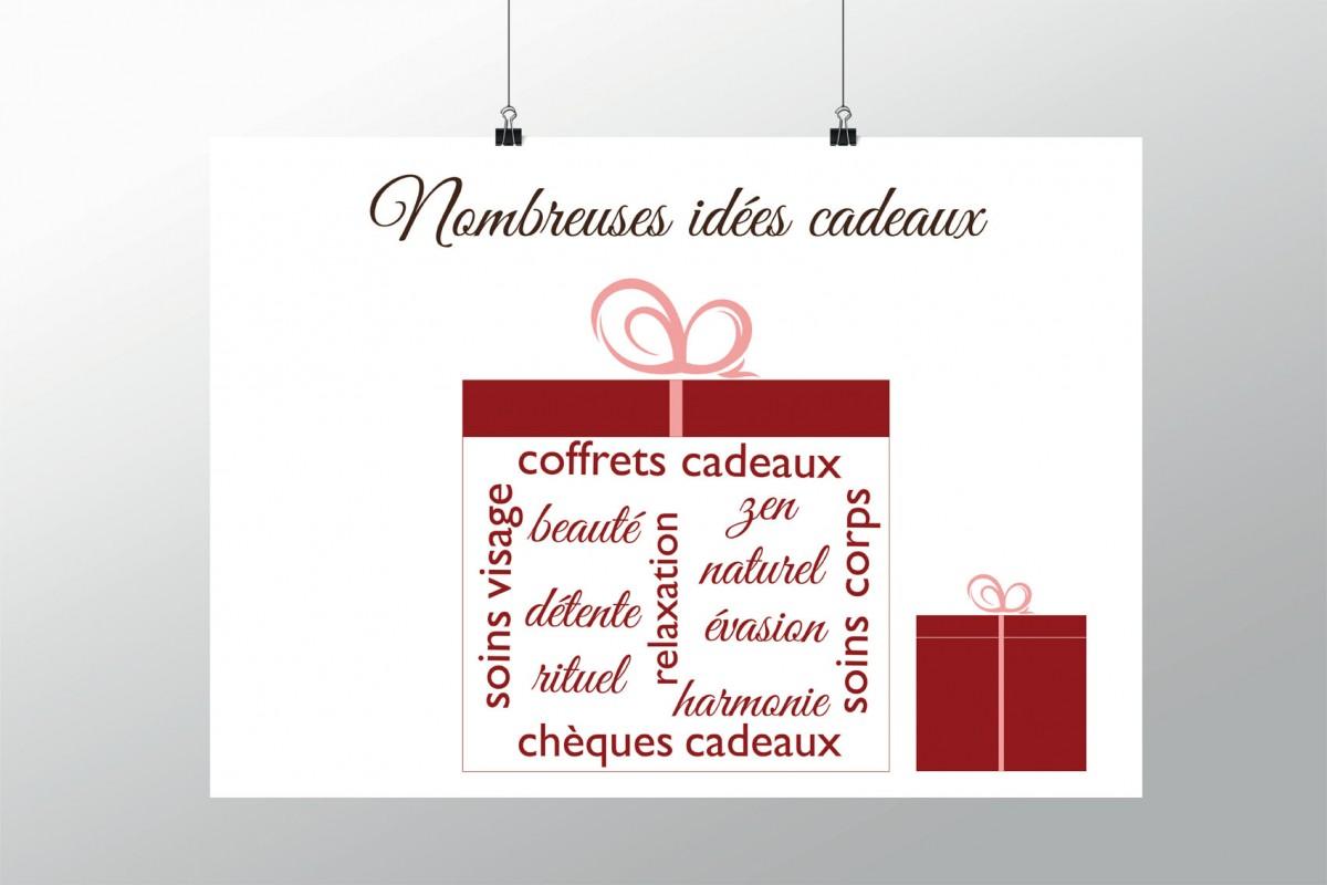 Offrez De La Beaut Affiche De Nol Pour Institut De Beaut Ou Spa