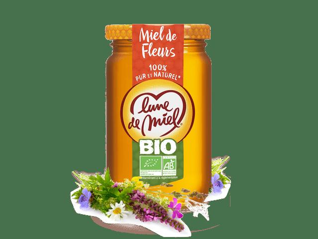 Miel biologique de fleurs