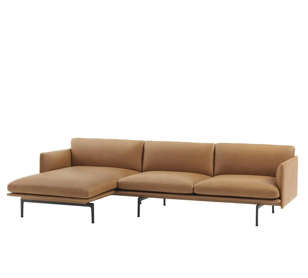 hay sofa kvadrat brompton leather reviews muuto outline chaise longue - left lunehjem.no ...
