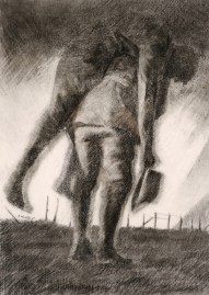 The Diggers. Charcoal