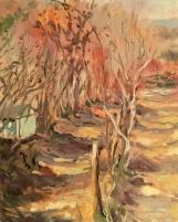 January at Le Potard oil 20 x 15 cm