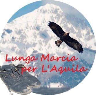 Logo Lunga Marcia per L'Aquila