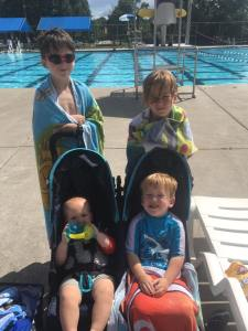 A day at the pool with these guys keeps me motivated at the gym!