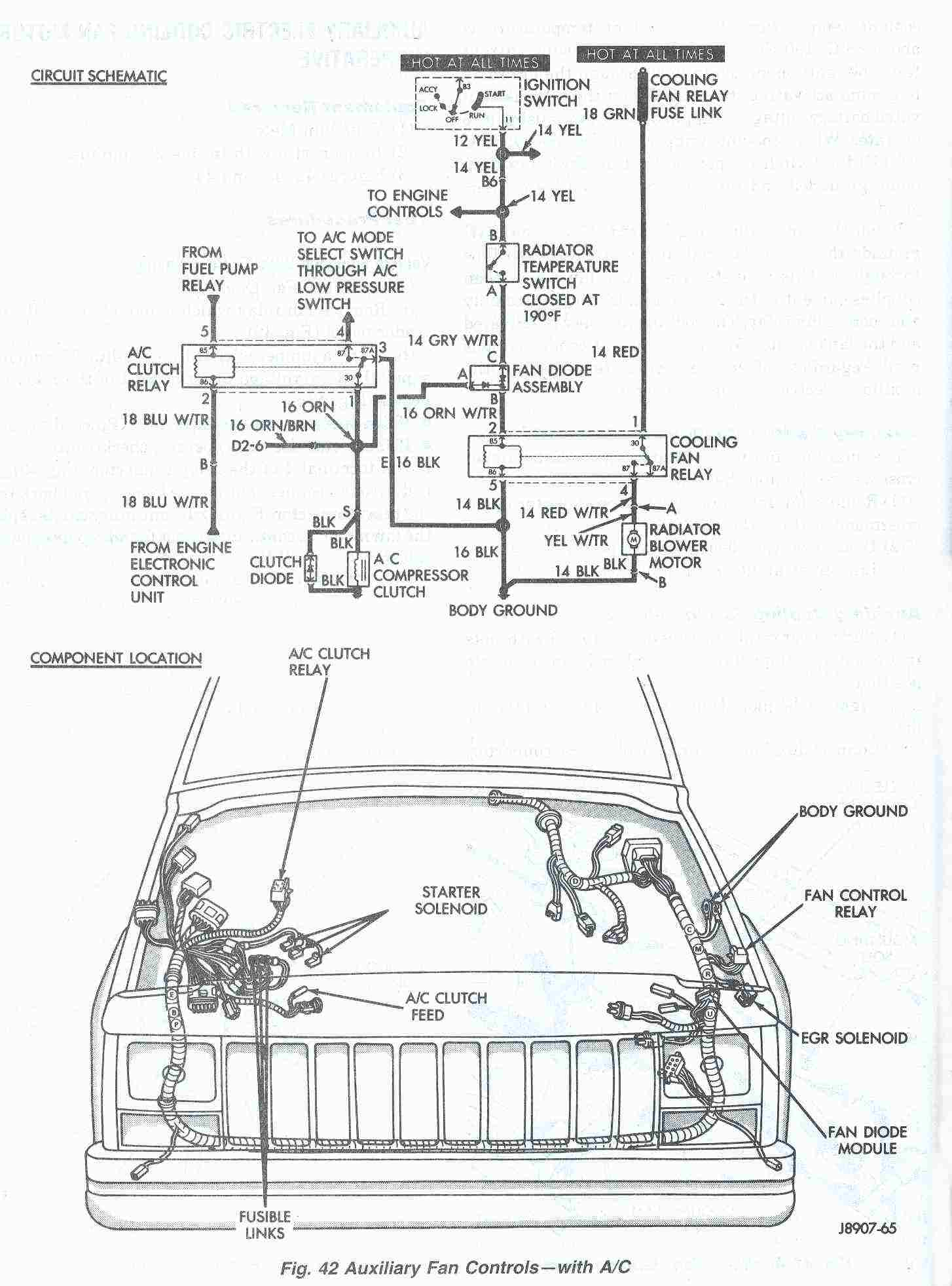 1997 Jeep Cherokee Headlight Wiring Diagram