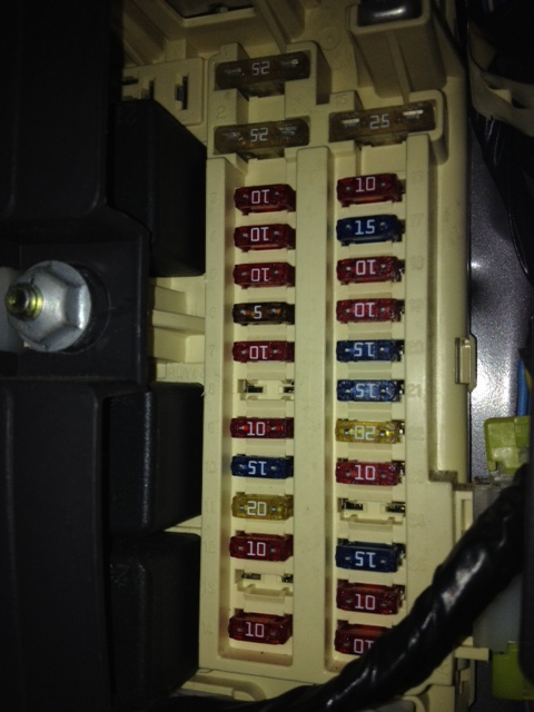2000 Jeep Cherokee Sport Interior Fuse Box