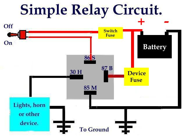 30 Amp Relay Wiring Diagram Electric Fan On 30 Images Free