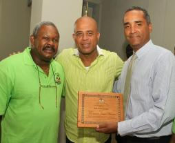 Minister-of-Environmnet-Jean-Francois-Thomas-HE-President-Michael-Martelly-and-FoProBiM-Director-Jean-Wiener
