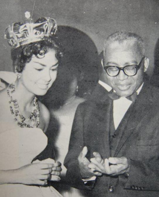 Jean Claude Duvalier et Claudinette Fouchard. She was Haitian Beauty Queen