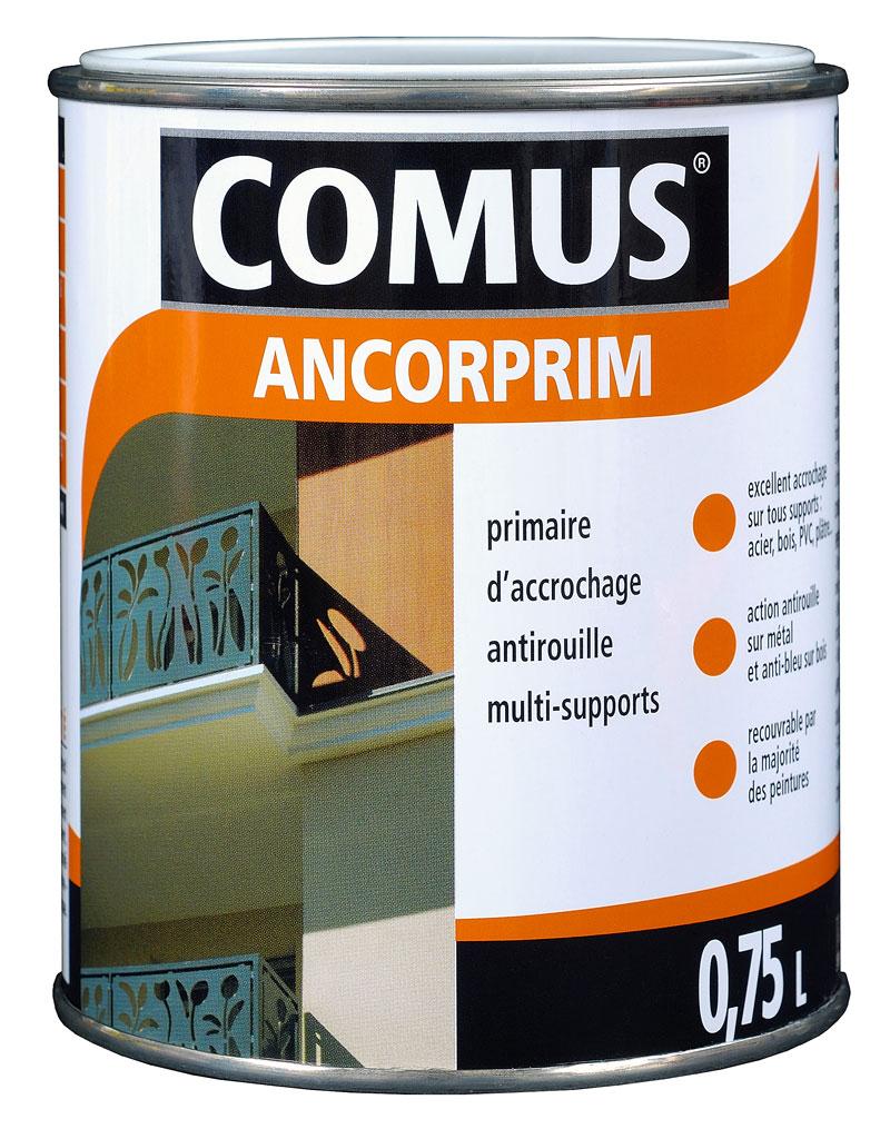 ancorprim comus 0 75l primaire d accrochage universel pour metaux et supports speciaux pvc verre carrelage