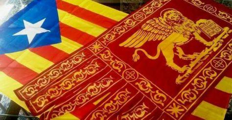 bandiera veneta e catalana