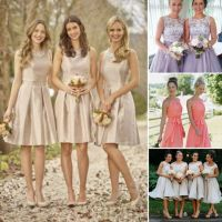 Top 5 Rules of Choice of Short Bridesmaid Dress in Color ...
