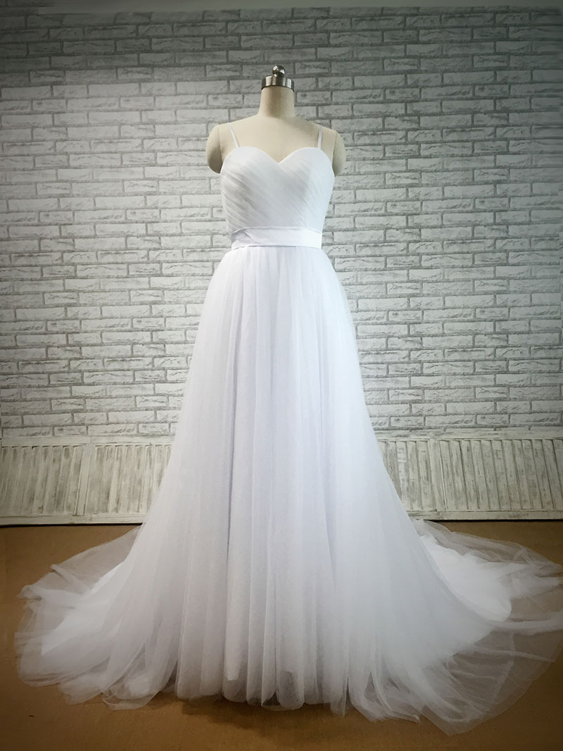 A Custom Size White Tulle Wedding Dress  Custom Design  Lunss Couture