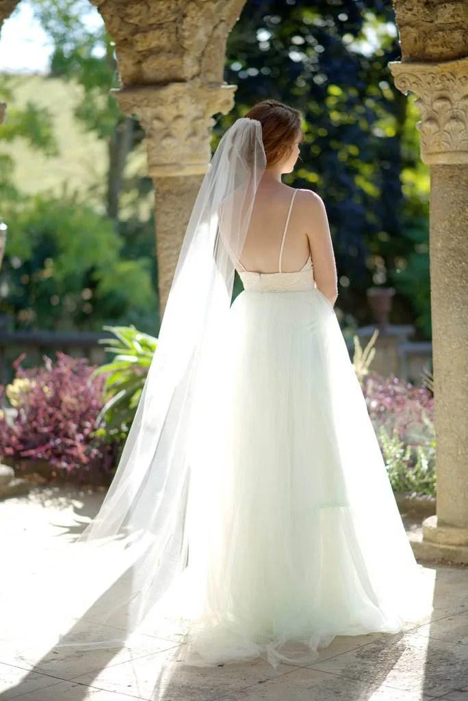 Singletier Chapel Length Soft Tulle Long Bridal Veil