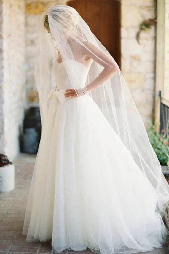 Chapel Length Wedding Veil