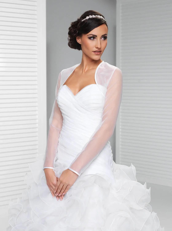 Popular Wedding Bolero Jacket Long Sleeve Bridal Shrug Sheer Tulle  Lunss Couture