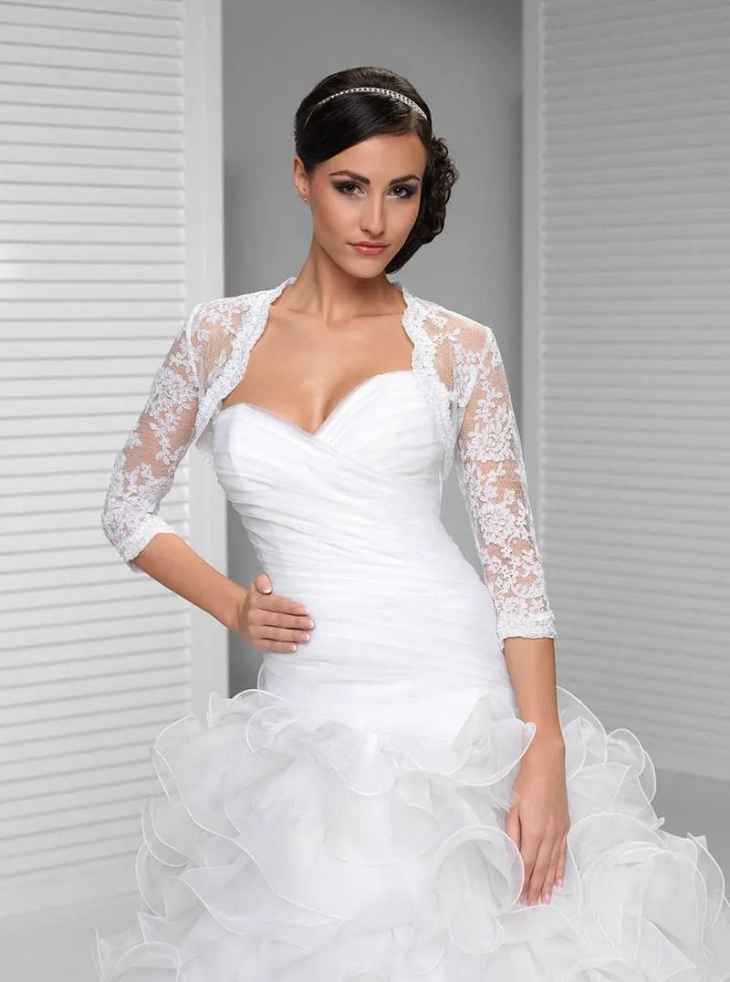 Three Quarter Sleeve Wedding Dress