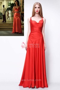Elegant Red Satin Long Evening Prom Dress Caterina Murin ...