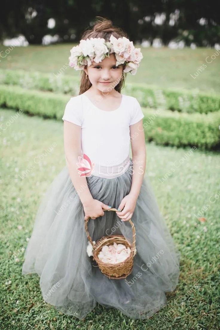 Custom Designer Twotone Flower Girl Dress Floor Length