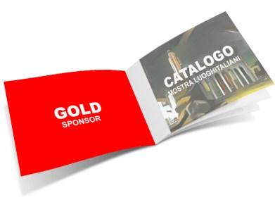 sponsor GOLD - Elaborato a colori 2° copertina del Catalogo