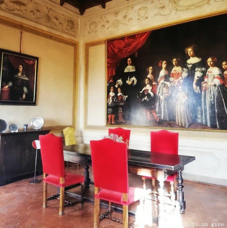i saloni signorili della Rocca Sforzesca di Dozza