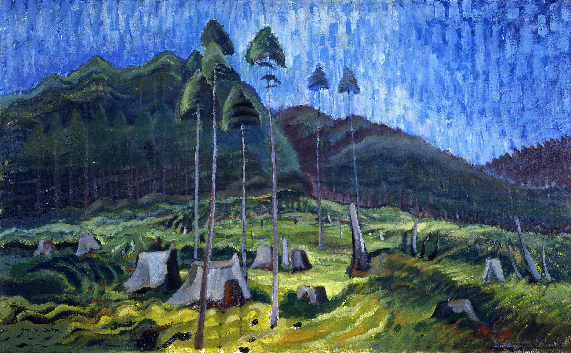 Acrylic Painting 2 – Space, Movement, Emily Carr