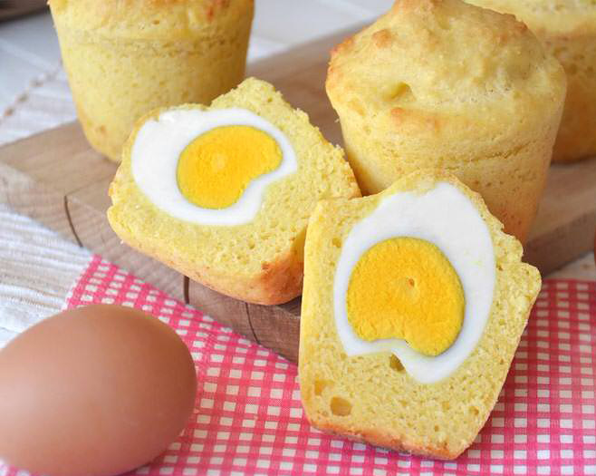Muffin Salati con uovo