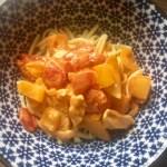 Haehnchen-Paprika-Geschnetzeltes – Schnelles Essen