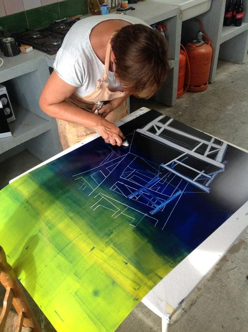Monogràfic de Monotip sobre paper i tèxtil