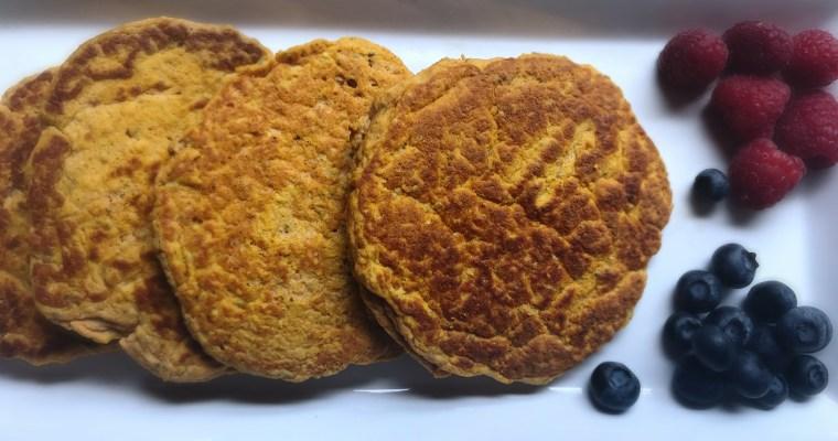 Gluten-Free Pumpkin Protein Pancakes