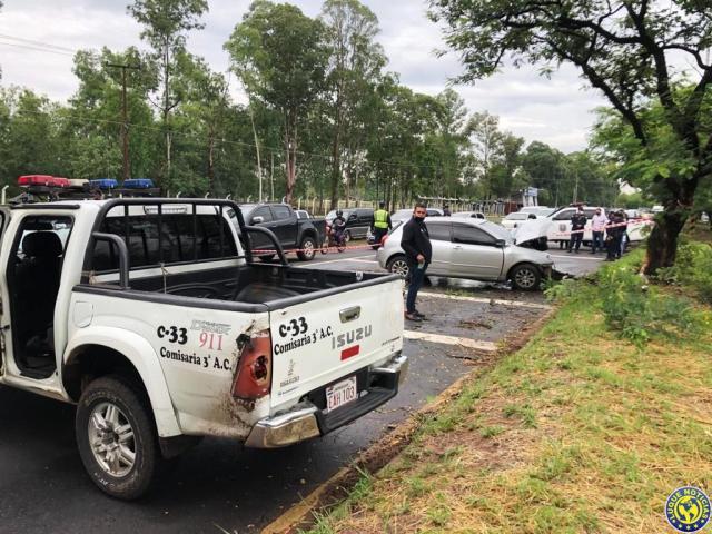 Accidente conductora Autopista