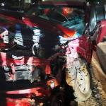 Policía ebrio realiza adelantamiento y provoca choque frontal en la ruta Luque- Areguá
