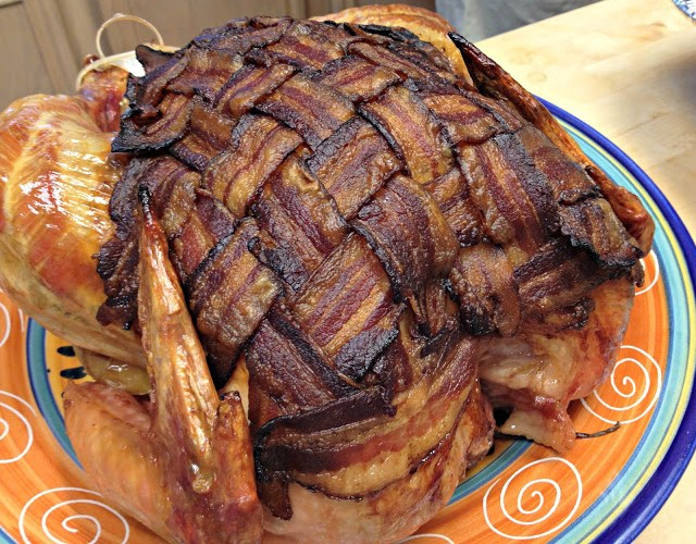 Bacon-Jacketed Herb Roasted Turkey