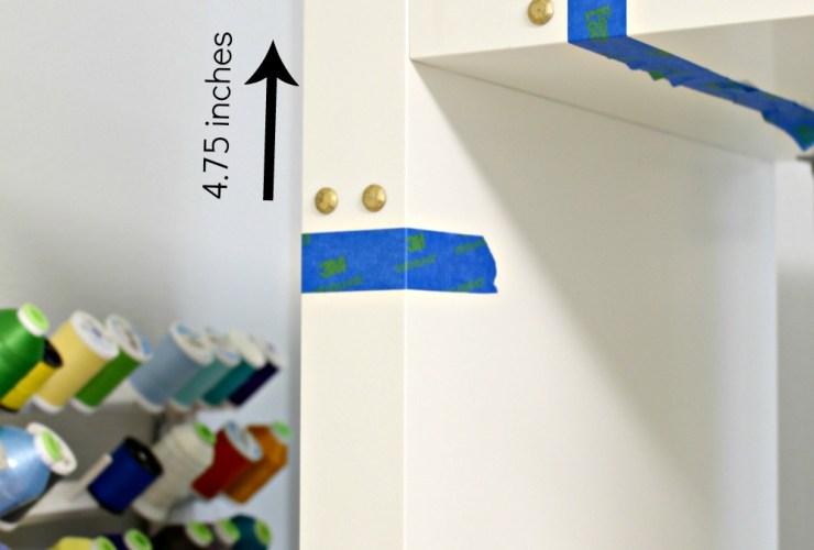 Ikea Hack Adding Campaign Hardware to the Kallax Shelf Using Rub 'n Buff