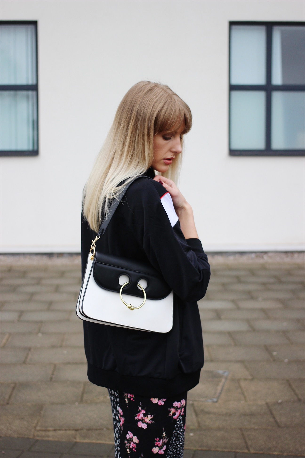 714b8cbde J W Anderson white and black pierce bag dupe on UK fashion blog ...