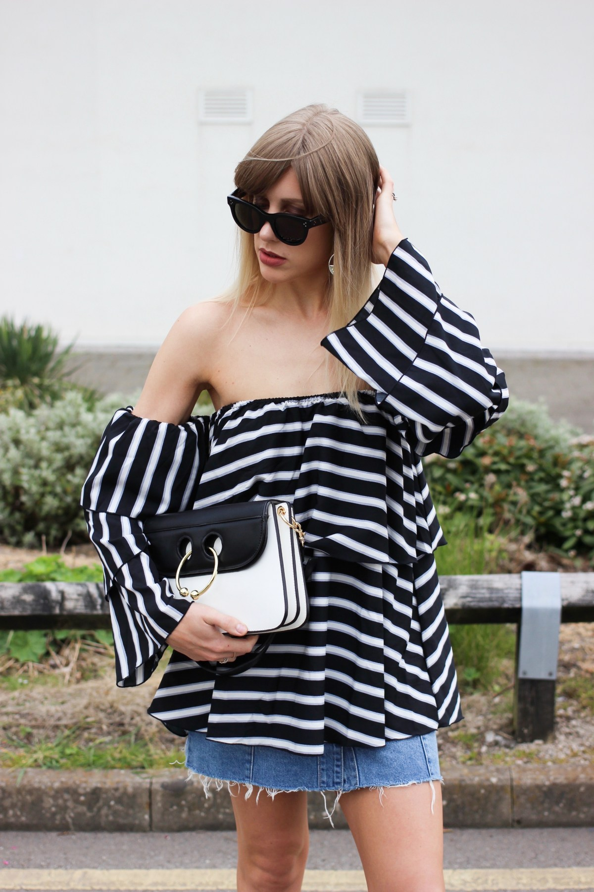 boots givenchy glasses 18l1  how to wear stripes in Summer