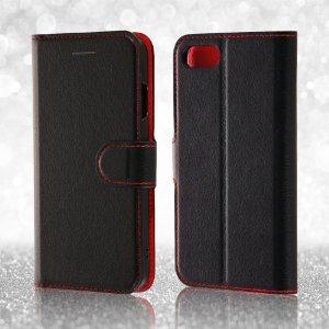 レイ・アウト iPhone7ケース 手帳型 ケース シンプル マグネット (カード収納×3 / スタンド機能) ブラック/ピンク RT-P12ELC1/BP