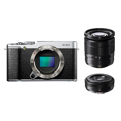 FUJIFILM ミラーレス一眼カメラ X-M1 Wレンズキット ズームレンズ付属 1630万画素APS-C シルバー F X-M1S/1650/27KIT