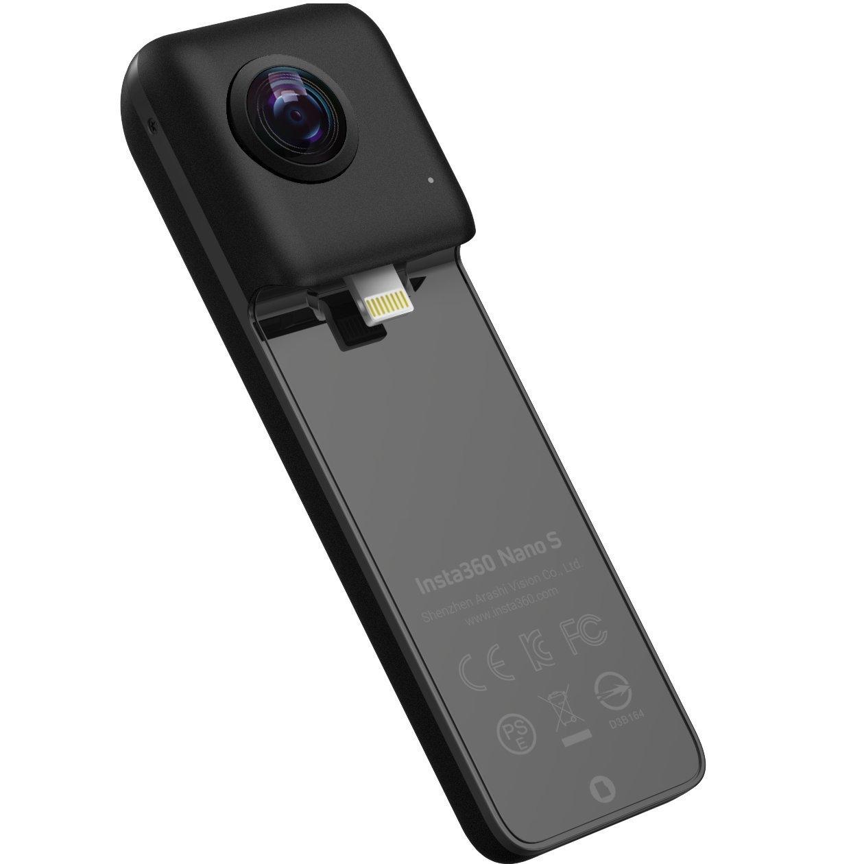 Insta360 Nano S 360 VRカメラ, 4K 超高解像度360度ビデオカメラ,デジカメ, 20MP写真, 対応機種iPhone X, iPhone 8 シリーズ, iPhone 7 シリーズ, iPhone 6 シリーズ, iOS 9.0以上