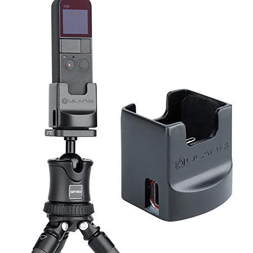 CooerのOP2対応デスクトップ充電器ベースDJI対応Osmo Pocketデスクトップスタビライザーアクセサリー充電スタンドスタンド1/4インチスクリュースタンド三脚マウントアダプターハンドヘルドジンバルホルダー2タイプCポート対応