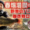 春爆を満喫するための野池のバス釣り巻き物ローテーション【寄稿by狩野 陽】
