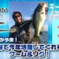 小池貴幸が予測!!琵琶湖で今年活躍してくれそうなワーム&リグ!