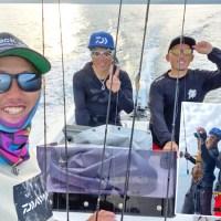 バス釣りが上手い人は何を釣らせても上手い説立証なるか!ガイド前田、バスプロ3人でいざ海へ!