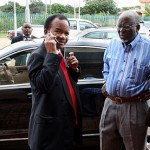 Former President Frederick Chiluba at the magistrate court