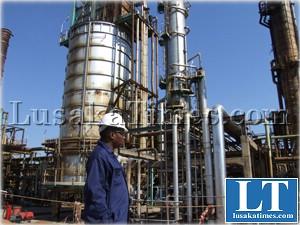 Indeni Oil Refinery in Ndola