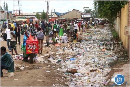 FILE: Some traders with offer letters to conduct business in the new Soweto market in Lusaka