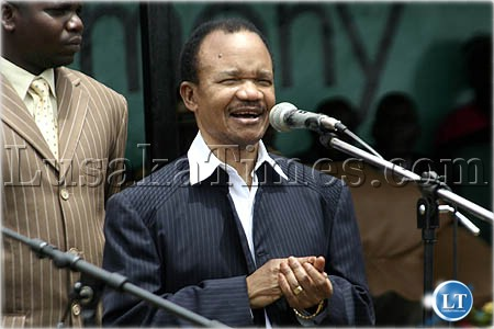 Dr Chiluba addressing people at the Ncwala