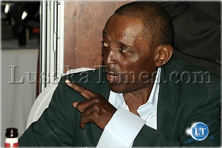 Former Zambian footballer Boniface Simutowe during the FAZ-KCM awards in Lusaka