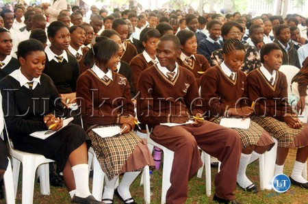 File:Pupils from Lusaka schools follow proceedings during the junior achievers programme at Kabulonga Boys secondary school