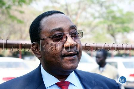 Defence Minister Geoffrey Bwalya Mwamba