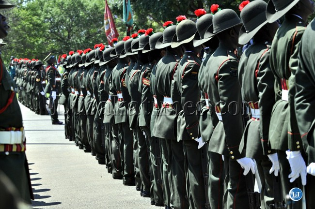 Zambia Army Soldiers on parade